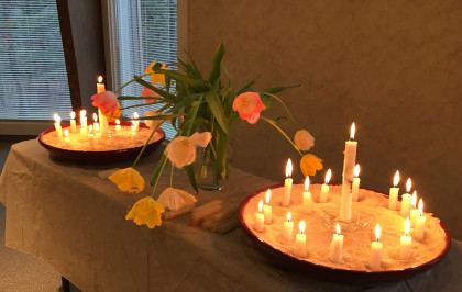 candles and tulips brightened 2