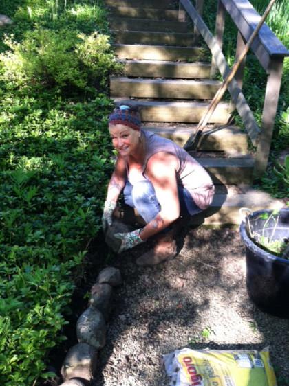 Annette in garden original
