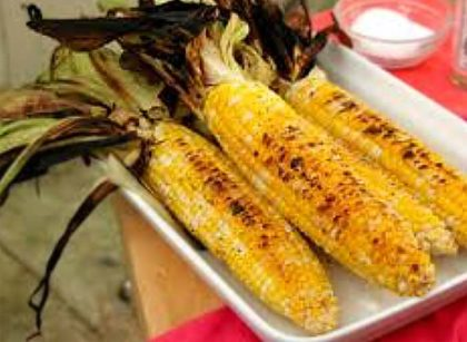corn roast closeup